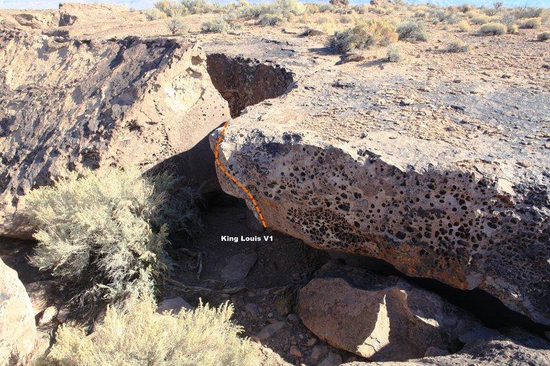 Rock Climbing Photo: King Louis Topo
