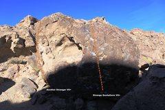 Rock Climbing Photo: Strange Boulder Topo