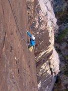 Rock Climbing Photo: Allison climbing the superb rock and wild position...