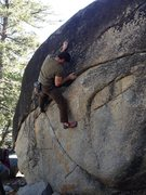 Rock Climbing Photo: Making moves on Blacktop
