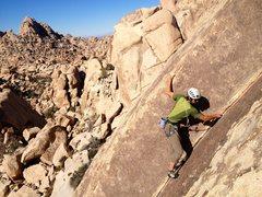 Rock Climbing Photo: Richard Shore following the beautiful corner of th...