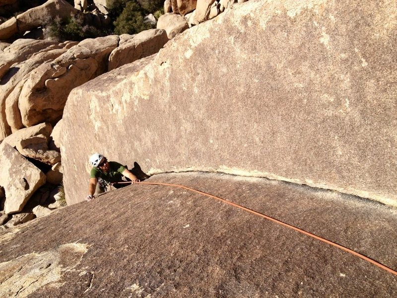 Richard Shore on the Bighorn Dihedral. Photo: Mark Collar