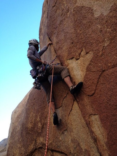 Rock Climbing Photo: Richard Shore leading the Lemon Slicer 5.11a