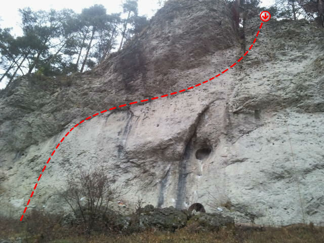 Rock Climbing Photo: I chose not to define the bolts because I think yo...
