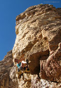 Rock Climbing Photo: Pulling the overhang.