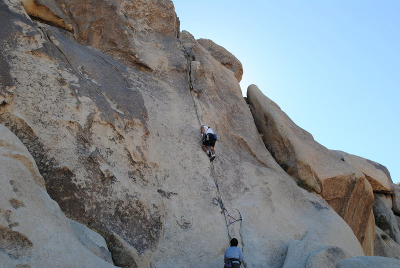 Rock Climbing Photo: just enough crack to get by