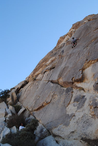 Rock Climbing Photo: the thin and committing second crux, although basi...