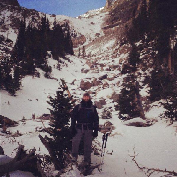 Andrews Glacier tarn behind me.