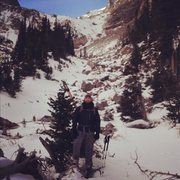 Rock Climbing Photo: Andrews Glacier tarn behind me.