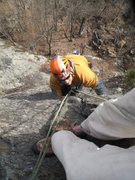 Rock Climbing Photo: Jay Lena finishing up the last pitch. Nice and ste...