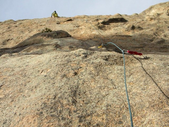 Rock Climbing Photo: Leading the 5.7 line (right-most line).