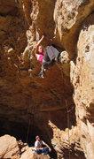 Rock Climbing Photo: Gabriela starts the crux Eternal Sunshine (5.12-)