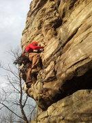 Rock Climbing Photo: The beginning of Black Crack.  Always good to brin...