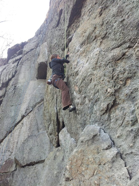 Rock Climbing Photo: The face moves at the start are the best part of t...