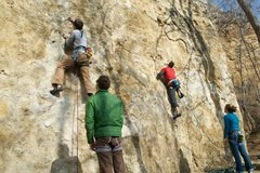 Rock Climbing Photo: suicide squeeze and ziplock bag