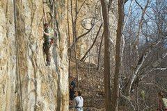 Rock Climbing Photo: James on ziplock bag