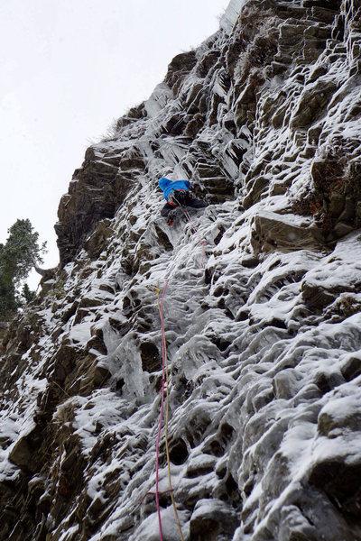 Rock Climbing Photo: Dave Rone leading 2 Low 4 Zero. November 2012.