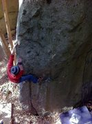 Rock Climbing Photo: Riichi-Kun on Sugi Arete