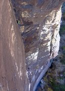 Rock Climbing Photo: Pitch 3 action as seen from Excellent Adventure. N...