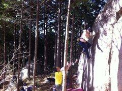 Rock Climbing Photo: Falling off The Rat V3