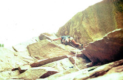 Rock Climbing Photo: P1 Of Tagger , wind tower, Eldorado state park. 19...