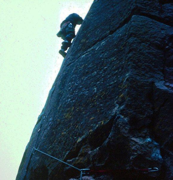 West Butress, Bastille, Eldorado Canyon. 1982