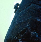 Rock Climbing Photo: West Butress, Bastille, Eldorado Canyon. 1982