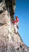 Rock Climbing Photo: Crescent pitch, Orginal Route, Whiteside Mt, NC