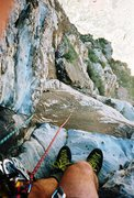 Rock Climbing Photo: Frogland, Red Rocks, NV 02' looking down on the &q...