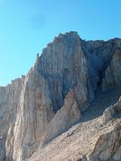 Rock Climbing Photo: Mt Russell, 14,096 ft. Fishook Arete on right