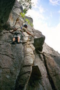 Rock Climbing Photo: Luan Kruger of S Africa contempeting the 5.9 + cru...