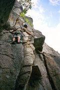 Rock Climbing Photo: Luan Kruger of S Africa contempeting the 5.9 + cru...
