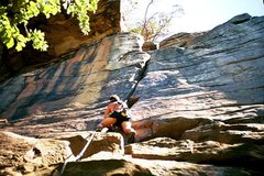 Rock Climbing Photo: leading ZAG, new river