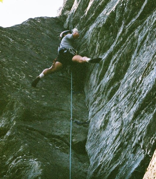 Rock Climbing Photo: White Lighting, Table rock, NC