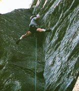 Rock Climbing Photo: White Lighting, Table rock, NC