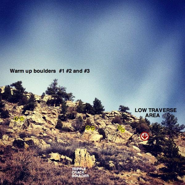 Rock Climbing Photo: Warm-up Blocks.