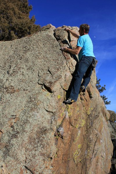 Rock Climbing Photo: Top out.