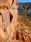 Rock Climbing Photo: John Widerman on a beautiful day in Escalante.