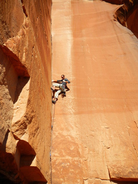 "Rock Climbing Photo: John Widerman laying it back on ""Fork It&quot..."