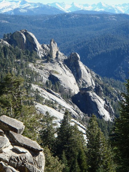 Chimney Rocks from the west