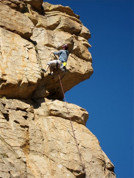 Rock Climbing Photo: David Merin finishing it up.