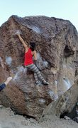 Rock Climbing Photo: Jackie Trejo catching the tiny crimp at the crux.