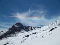 Rock Climbing Photo: Rainbow over Little Tahoma
