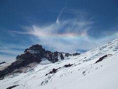 Rock Climbing Photo: Rainbow over Little Tahoma