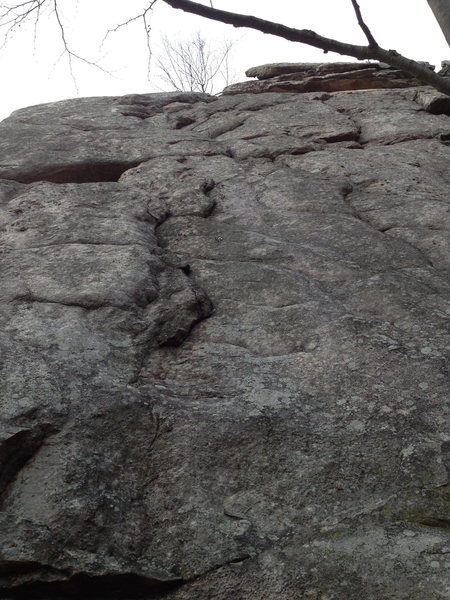 Rock Climbing Photo: You can see the first bolt on this route.