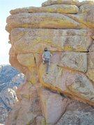 Rock Climbing Photo: Adam Block working it out.