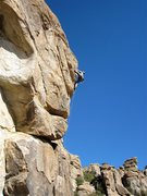 Rock Climbing Photo: Adam Block at the top of Presents of Mind.  No lin...