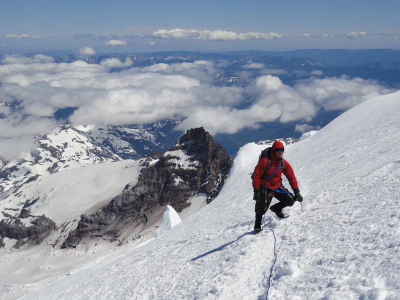 Rock Climbing Photo: Dave Lynch taking a break on Summit Day