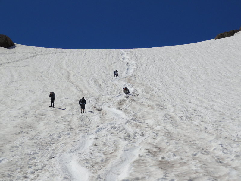 Rock Climbing Photo: Awesome 1000 ft glissade down the Inter Glacier