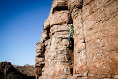 Rock Climbing Photo: Here is Annie starting up this fun trad climb! Cra...